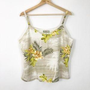 Tommy Bahama Silk Hawaiian Print Tank Floral Palm